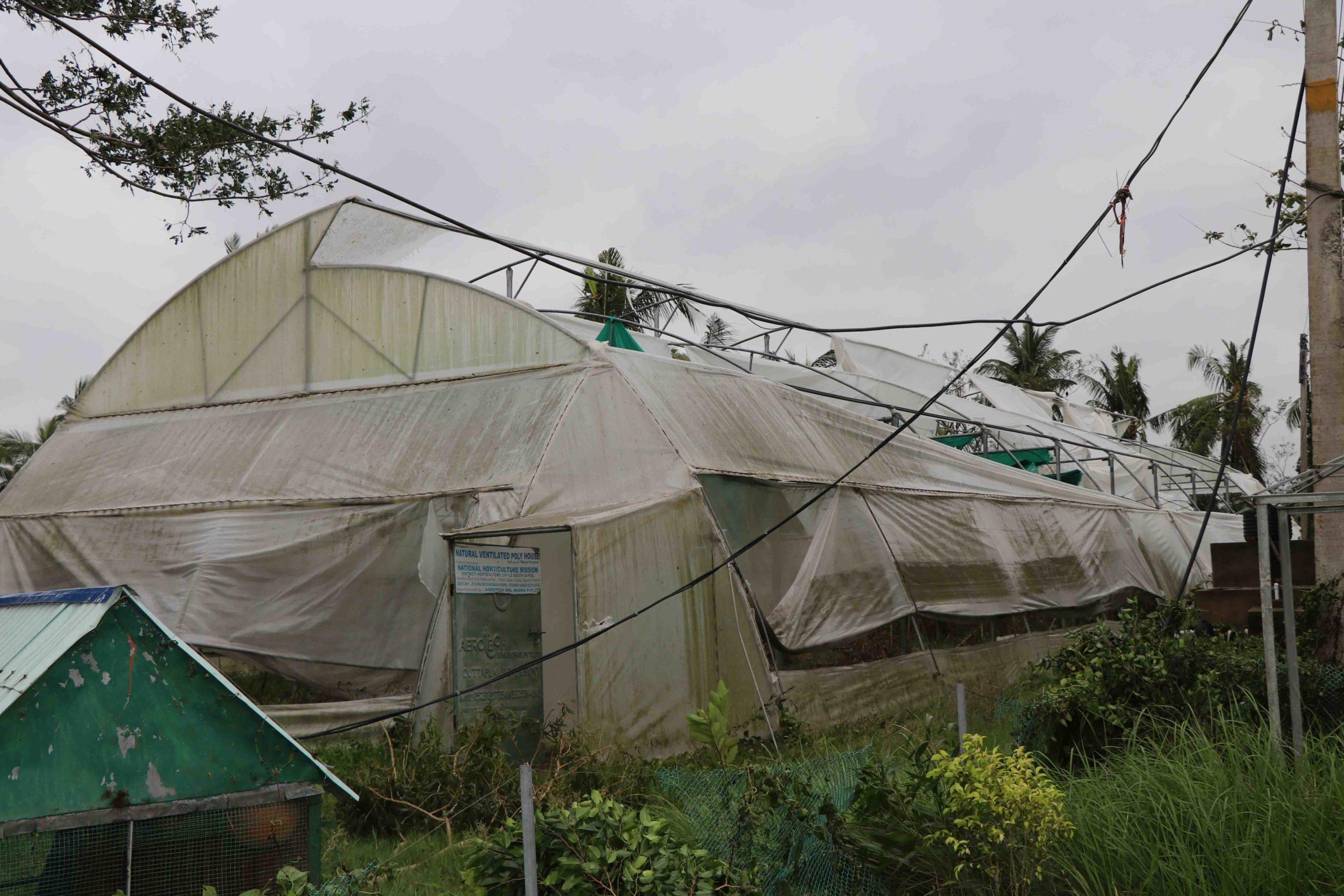 JGVKs drivhus er ødelagt
